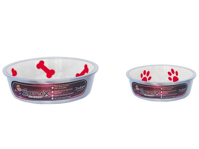 Robusto Bowls Rubber Base Skid Free Low Noise Spill Preventing Dishwasher Safe - Medium Cat or Dog Bowls Ivory (B.D12)