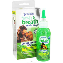 Tropiclean Fresh Breath Clean Teeth Gel for Dogs 4. ounces (A.K1)