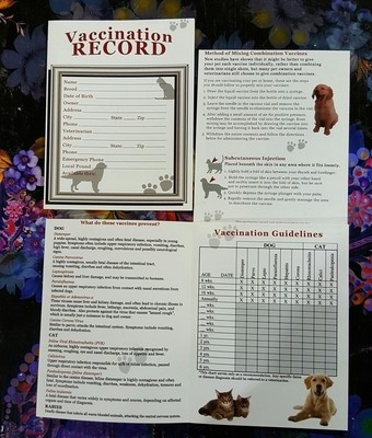 Vaccination Record Pamphlet (O.U2)