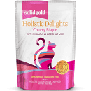 SOLID GOLD HOLISTIC DELIGHTS CREAMY BISQUE SHRIMP & COCONUT MILK 3 OZ 12 COUNT POUCHES (7/18) (A.K3)