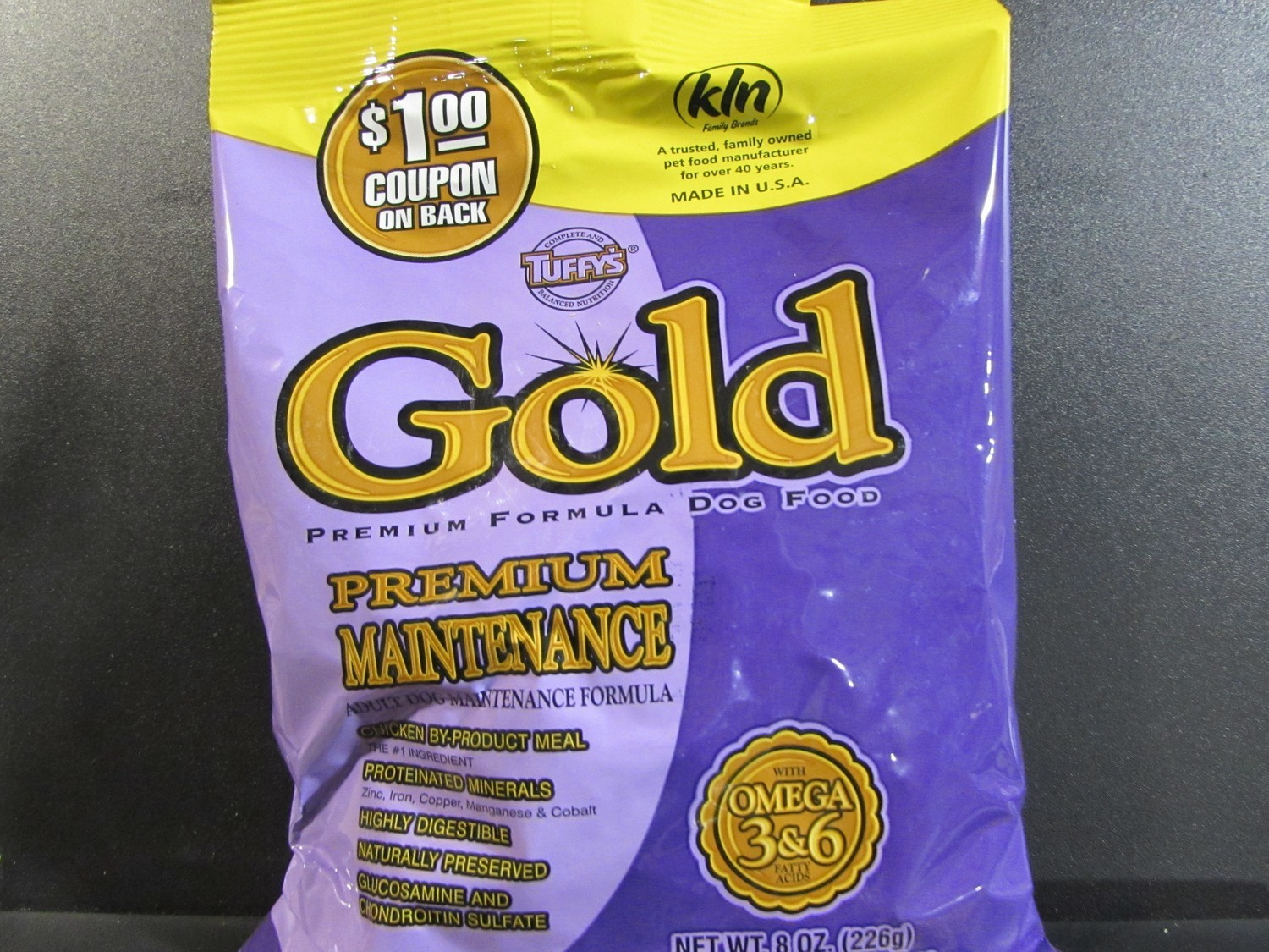 TUFFY'S GOLD PREMIUM MAINTENANCE ADULT DOG CHICKEN 8 OZ (5/18) (A.Q1)