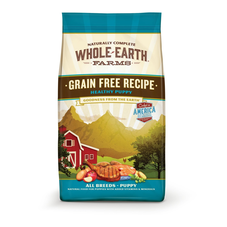 Merrick Whole Earth Farms GF Healthy Puppy Dry Dog Food 25 lbs (3/19) (T.I3)