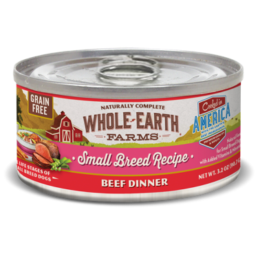 Merrick Whole Earth Farms GF Small Breed Beef Stew for Dogs 3.2 oz 24 count (1/19) (A.M4/D3/DW)