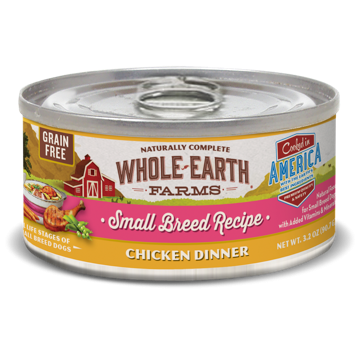 Merrick Whole Earth Farms GF Small Breed Chicken Stew for Dogs 3.2 oz 24 count (1/19) (A.N3)