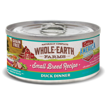 Merrick Whole Earth Farms Grain Free Small Breed Duck Stew for Dogs 3.2 oz 24 count (1/19) (A.M7)