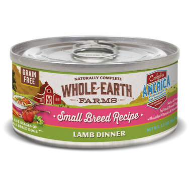 Merrick - Whole Earth Farms Grain Free Small Breed Lamb Stew for Dogs 3.2 oz 24 count (1/19) (A.M4)