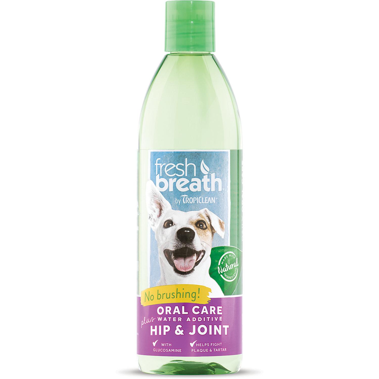 Tripiclean Fresh Breath Water Additive Plus Hip & Joint Pet Supplement 16 oz. (A.K1)