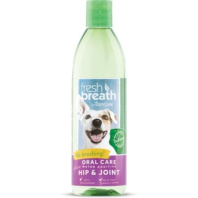 Tropiclean Fresh Breath Water Additive Plus Hip & Joint Pet Supplement 16 oz. {O.A1/R4/S4/T4/PR)