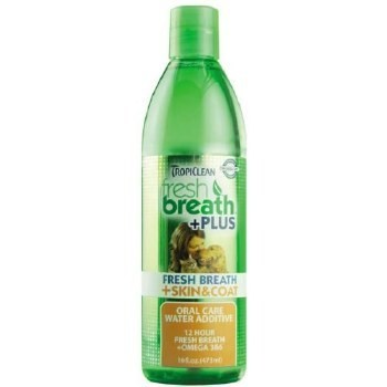 Tropiclean Fresh Breath Plus Skin & Coat Water Additive 16 oz. (O.A1/V5/X5/W5/PR)