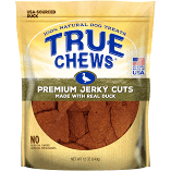 TRUE CHEWS 100% NATURAL PREMIUM JERKY CUTS W/REAL DUCK 12 OZ (5/19) (T.A2)
