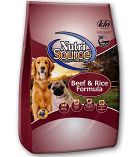 Nutrisource Beef & Brown Ride Dry Dog Food 22% /13% 5 lbs (3/19) (A.N3/B)