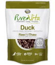 "**SALE** Pure Vita ""Freeze Dried"" ""Grain Free""  Duck Dog Treats  2 oz (3/19) (A.K1)"