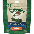 GREENIES DENTAL TREATS HIP + JOINT PETITE 15-25 LBS 10 COUNT (6/19) (T.C3)