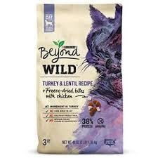 Purina Beyond Wild Turkey & Lentil Recipe GF Dry Cat Food  3 lbs (8/19) A.L2)