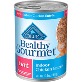 BLUE BUFFALO HEALTHY GOURMET INDOOR CAT CHICKEN ENTREE PATE 12.5 OZ 12 COUNT (8/19) (A.M6)