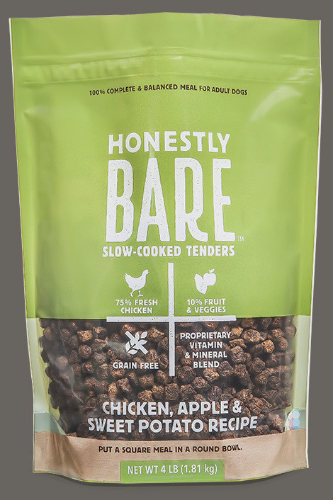 Honestly Bare Slow-Cooked Tenders Chicken, Apple & Sweet Potato Recipe 16 oz (7/19) (A.R2)