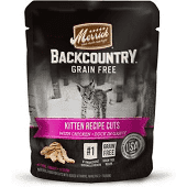 MERRICK BACKCOUNTRY GF REAL KITTEN RECIPE CUTS CHICKEN & DUCK IN GRAVY 3 OZ 24 COUNT (3/19) (A.D4)