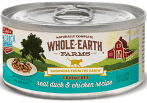 MERRICK WHOLE EARTH FARMS WET CAT CHICKEN & DUCK GF 2.75 OZ 24 COUNT (3/19) (A.N2)