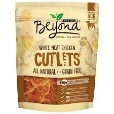 Purina Beyond White Meat Chicken Cutlets Natural Dog Snacks 2.7 oz. Pouch (T.B2)