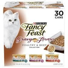 PURINA FANCY FEAST GRAVY LOVERS POULTRY & BEEF COLLECTION 3 OZ 30 CANS (9/20) (A.O8)