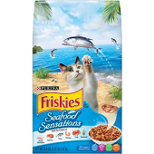 PURINA FRISKIES SEAFOOD SENSATIONS DRY CAT FOOD  3.15 LB (7/19) (A.E3)