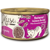 PURINA MUSE NATURAL SALMON RECIPE WET CAT FOOD IN GRAVY 3 OZ 24 COUNT (6/19) (A.N7)