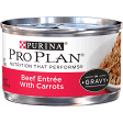 PURINA PRO PLAN BEEF ENTREE W/CARROTS 3 OZ 24 COUNT WET CAT FOOD IN GRAVY (7/19) (A.C2)
