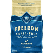 Blue Buffalo Freedom Senior Chicken Recipe Grain-Free Dry Dog Food 4 LBS. (2/19) (A.N7)