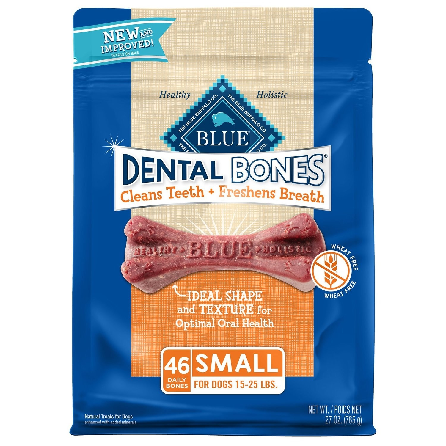 BLUE BUFFALO DENTAL BONES SMALL DOG 27 Oz (2/19) (T.B2)