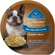 Blue Buffalo  Divine Delights New York Strip Flavor In Gravy 3.5 oz 12 count (3/19) (A.R7)