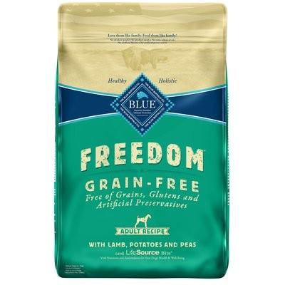 Blue Buffalo Freedom Grain Free Lamb Recipe Adult Dog Food, 24 lbs.  (6/19) (A.J1)