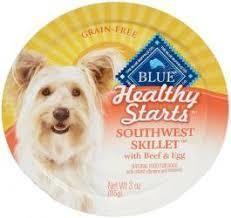 Blue Buffalo Healthy Starts Grain Free Southwest Skillet Beef & Egg Wet Dog Food 3 OZ 12 COUNT (11/18) (A.K4)
