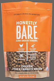 HONESTLY BARE SLOW COOKED TENDERS CHICKEN, PEAS & CARROTS RECIPE 16 OZ  (6/19) (T.D4)