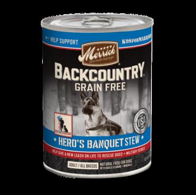 Merrick Backcountry Heros Banquet Stew GF 12.7 OZ SINGLES (1 Count) (3/19) (SINGLES/DW)