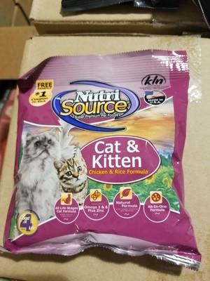 NUTRISOURCE CAT & KITTEN CHICKEN & RICE FORMULA 5 OZ (5/19) (A.P6)