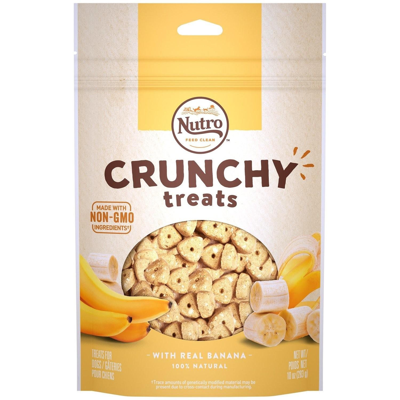 Nutro Crunchy Treats with Real Banana, 10-Ounce  (6/19) (T.E14)