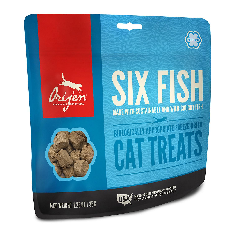 ORIJEN 6 Fish Freeze-Dried Cat Treats, 1.25 oz. (4/19) (A.Q1/CT)