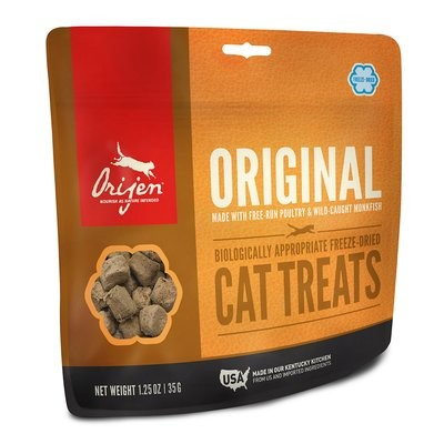 ORIJEN Original Freeze-Dried Cat Treats,Poultry & Monkfish 1.25 oz. (4/19) (A.R2)