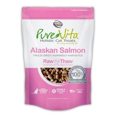 **SALE** Pure Vita Grain Free Freeze Dried Alaskan Salmon Delights Holistic Cat Treats 1.1 oz (4/19) (A.R1/CT)