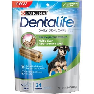 **SALE** Purina DentaLife Daily Oral Care Mini Dog Treats, 24 count, Small (6/18) (T.F9)
