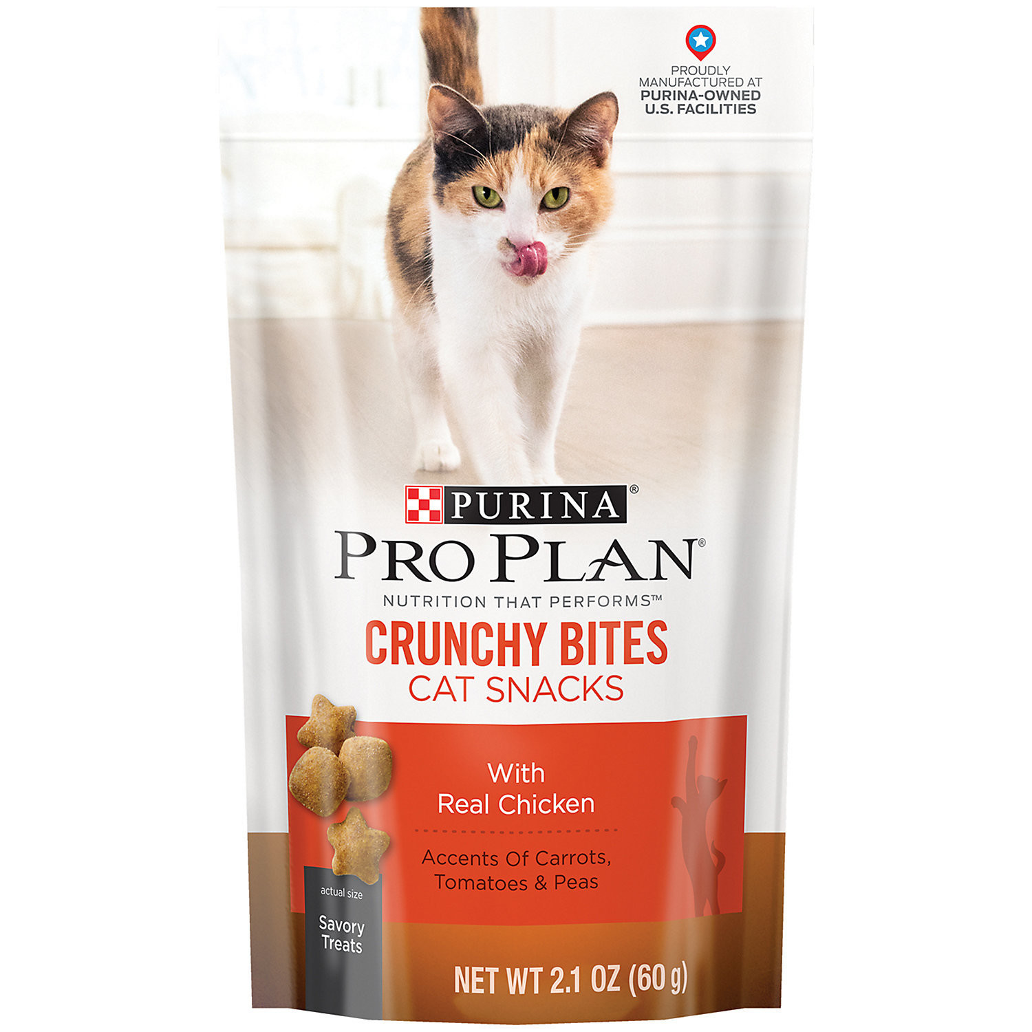 Purina Pro Plan Crunchy Bites with Real Chicken Cat Snacks (2.1 oz)  (7/19) (T.F3)