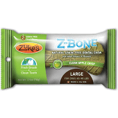 Zukes Z-Bones Natural Edible Dental Chews - Clean Apple Crisp: Large - 1 Pack   (6/19) (T.B2/DT)