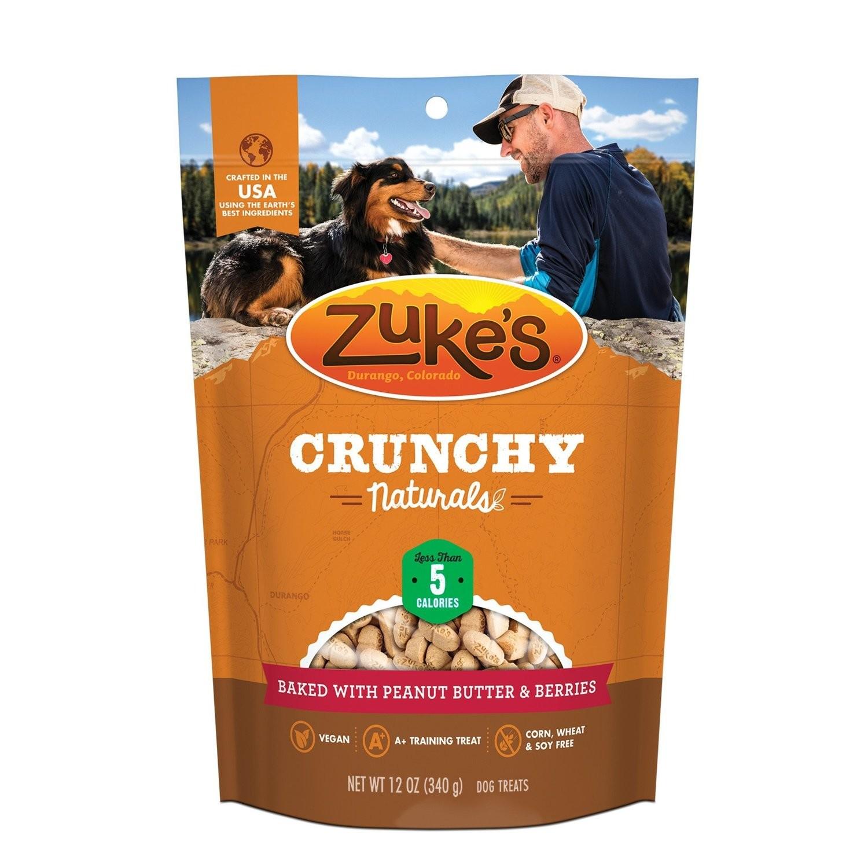 Zuke's Crunchy Naturals Baked With Peanut Butter & Berries Dog Treats,12 oz.  (6/19) (T.E4/DT)