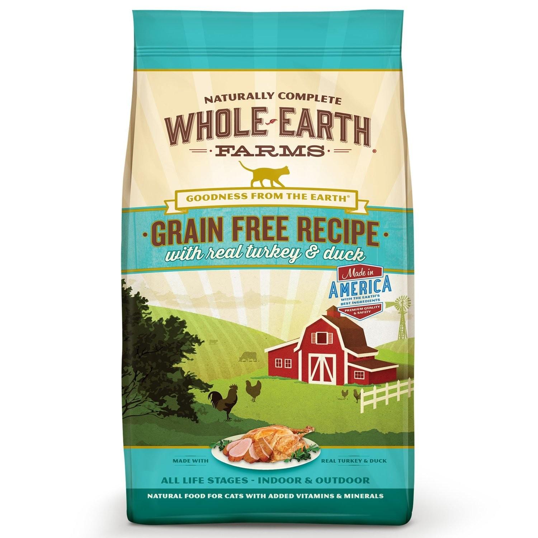 Whole Earth Farms Grain Free Real Turkey & Duck Cat Food, 2.5 lbs. (5/19) (A.C4)