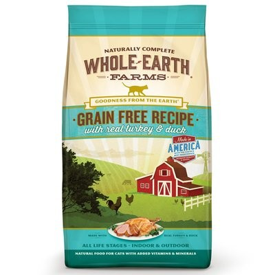 Whole Earth Farms Grain Free Real Turkey & Duck Cat Food, 2.5 lbs. (5/19) (A.C4)