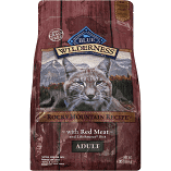 Blue Wilderness Adult Grain Free Rocky Mountain Recipe Dry Cat Food 4 lbs (4/19) (A.M5)