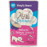 Purina Muse Creatables Simply Sauce Natural Salmon Gravy with Spinach Lickable Cat 1.4 oz 14 pouches (9/19) (A.K4)