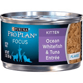 Purina Petcare Pro Plan Canned Ocean Whitefish and Tuna for Kittens 3 oz 24 count (9/19) (A.L4)