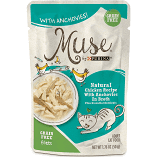 Purina Muse Natural Chicken Recipe with Anchovies in Broth Wet Cat Food 1.76 oz 16 count (9/19) (A.K5)