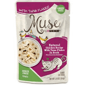Purina Muse Natural Chicken Recipe with Tuna Flakes in Broth Wet Cat Food 1.76 oz 16 Pouches (8/19) (A.K4)